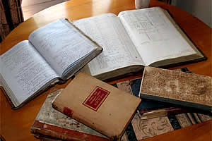 Some of the original journals and minute books
